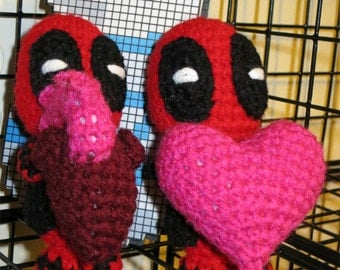 Valentine's Deadpool - Inspired Heart Plush