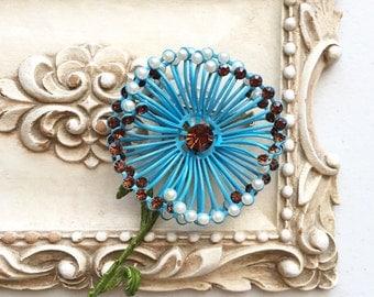 60's Vintage Big Flower Pin/Brooch