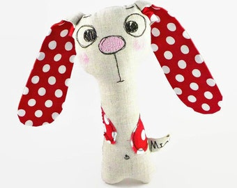 Personalized Baby Gift, Stuffed Bunny Rabbit, Infant Rattle, Baby Rattle, New Baby Gift, Infant Toy, Baby Boy Gift, Baby Girl Gift