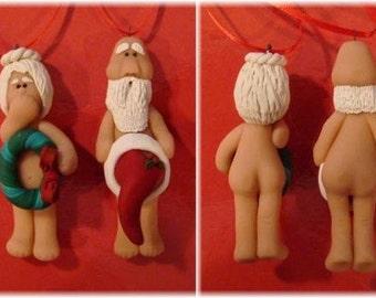 Handmade Original Whoops Santa Claus and Mrs Claus