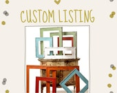 Custom Lisitng for Alexa  . . . 3 hole rustic hardware barnwood picture frame - custom size and orientation