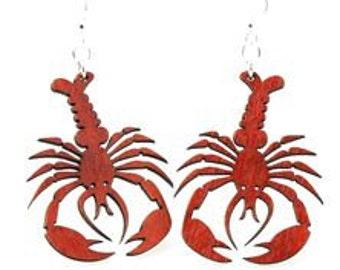 Lobsters - Wood Earrings