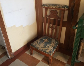Antique French prayer praying stool circa 1870-1900's / English Shop
