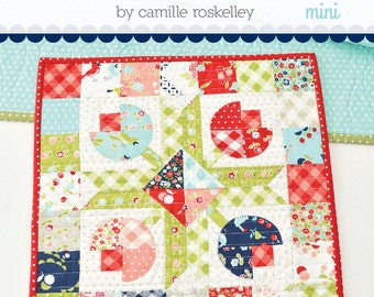 Mini Flower Patch Quilt Kit designed by Camille Roskelley of Thimble Blossoms - Delivery February 2016