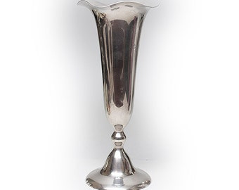 Shreeve & Co Sterling Silver Fluted Vase