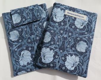 Kindle Paperwhite Case, Kindle Paperwhite Sleeve, Kindle Paperwhite Cover - Kindle Voyage - art nouveau blue flowers