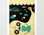 Panda Seal - art print