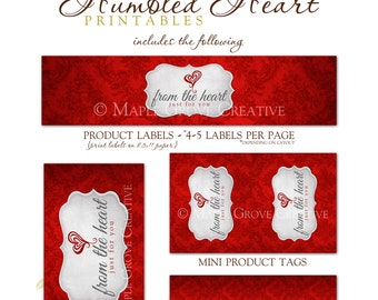 Humbled Heart Tags for Crochet, Knit, Handmade Items