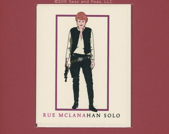 RUE In SPACE - Rue McLanahan Solo - Funny Greeting Card - Star Wars - Han Solo - Rue McLanahan Card - Item M145