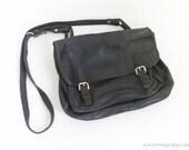 Vintage Briefcase Laptop Bag Black Leather Bag Distressed