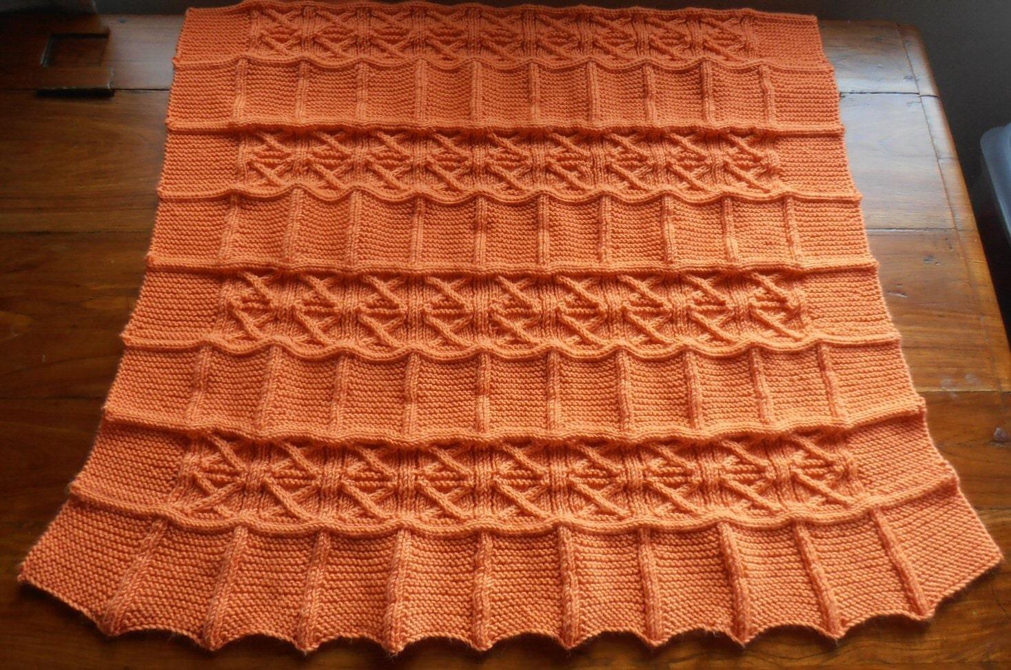 Blanket throw afghan lapghan knitting pattern