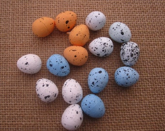 Artificial Foam Bird Eggs with Speckles - mini size