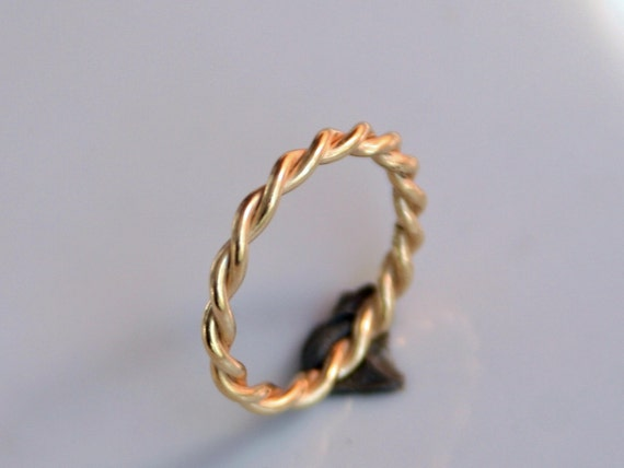 Twisted Rope 18k Gold Ring or Wedding Band