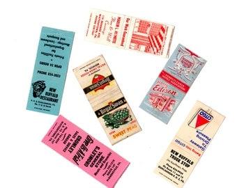 6 Vintage Matchbooks