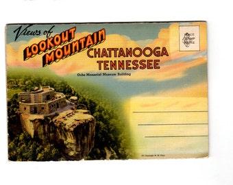 Vintage Lookout Mountain Chattanooga Tennessee Postcard Souvenir Folder
