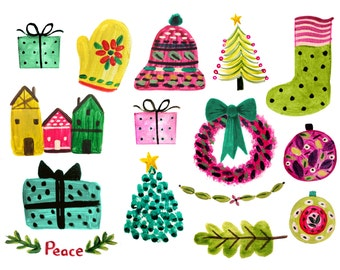 Christmas clipart christmas wreath clipart christmas