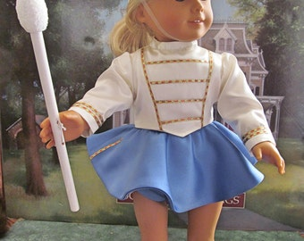Majorette Costume, Halloween Costume, 1950 Majorette,  Historical Dress Up Costume