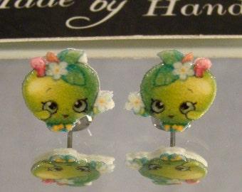 Apple Blossom Stud Earrings - Shopkins Jewelry - surgical steel