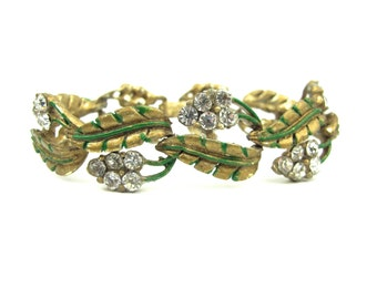 1940s Coro Rhinestone Bracelet