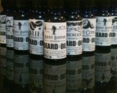 LIQUID LEATHER beard oil - 100% all natural leather scented beard care for men leather jacket saddle country biker punk horse beard care