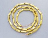 40 of Karen hill tribe 24k Gold Vermeil Style Faceted Beads 1.6x5 mm. 8.5 inches :vm0014