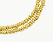 75 of Karen hill tribe 24k Gold Vermeil Style Little Ring Beads 2.2x1 mm. :vm0350