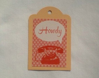 Howdy Gift Tag Set of 3
