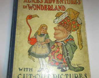 Antique Alice's Adventures in Wonderland Cut-Out Book 1917