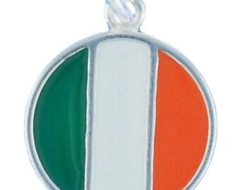 SALE Flag of Ireland Charm Pendant Sterling Silver 925 Irish