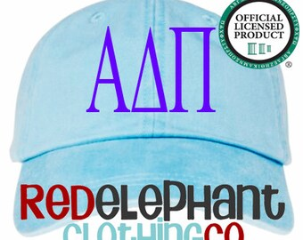 Alpha Delta Pi Hat, Sorority Hat, Monogrammed Baseball Cap, Personalize Baseball Hat, Monogrammed Hat, Sorority Gift, Embroidered Ball Cap