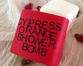 Cypress Orange Shower Bomb – Valentine's Edition - Spa Treatment – Aromatherapy – Steam Therapy