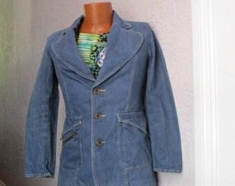 70's Vintage Men's Denim Suit Bellbottom sm 31 W.