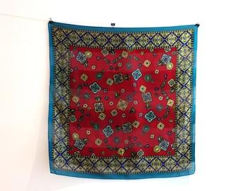 Vintage designer Jacques Esterel Paris silk scarf, vintage French silk scarf