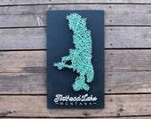 Flathead Lake String & Nail Art - Montana