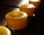 40 (plus) 8 FREE - Pure 100 % Beeswax Tea Lights - Handmade by Pollen Arts
