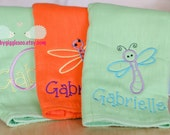 Girls Burp cloth set - Personalized