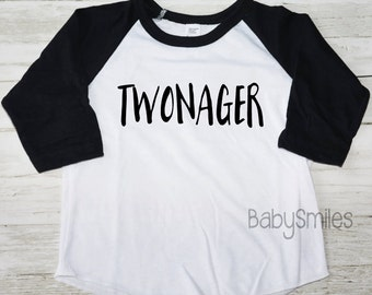 Twonager Shirt Two Birthday Tee Birthday Shirt Boy Shirt Girl Shirt Two Shirt Hipster Shirt Birthday Tee Two Birthday Outfit Kids Shirt