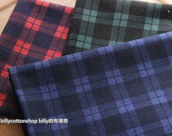 w345 - checkers- Cotton linen fabrics - - half Yard ( 3 color to choose )