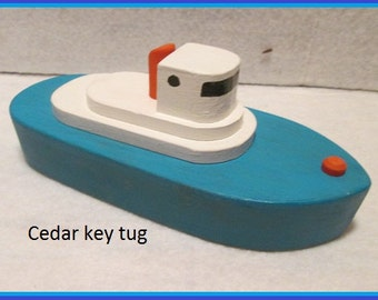 Wooden tug boat