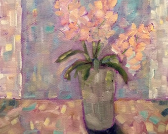 Hydrangea Painting - Original Oil Abstract Impressionist - Flower Painting - Still Life - Fine Art - Garden Painting