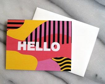 HELLO card - blank inside