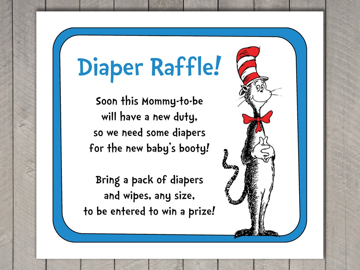 dr seuss baby shower diaper raffle invitation insert and 🔎zoom