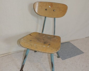 Childs Chair  Vintage School Chair Kids Chair Kids Furniture Wood School Chair Kids furniture