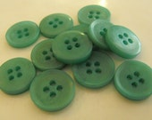 19 Teal Aged Center Round Buttons Size 9/16""