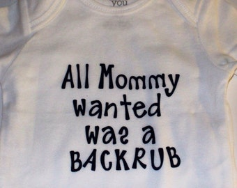 Perfect baby onesies with funny sayings in red and black lettering...great shower gifts