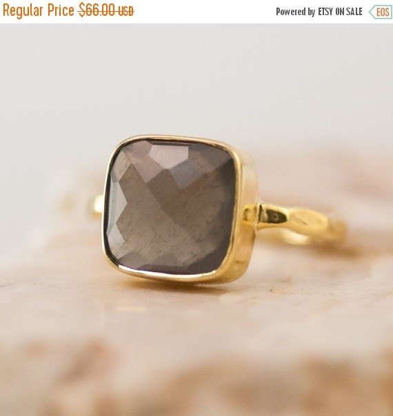 50 sale grey chalcedony ring gemstone ring gold by