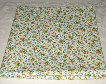 Vintage Floral Print Cotton Fabric Remnant 1yd