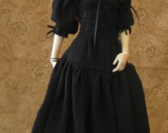 MSD/43cm black peasant dress Dollfie BJD