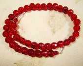 Large Red Glass Beaded Necklace for Multi Strand Interchangeable Collection chunky red necklace multi wear