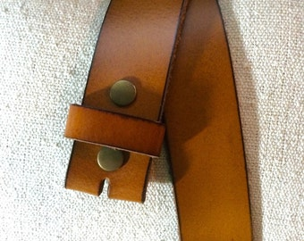 Camel Brown Leather Belt Strap